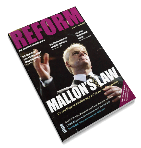 Front cover of Reform's first publication