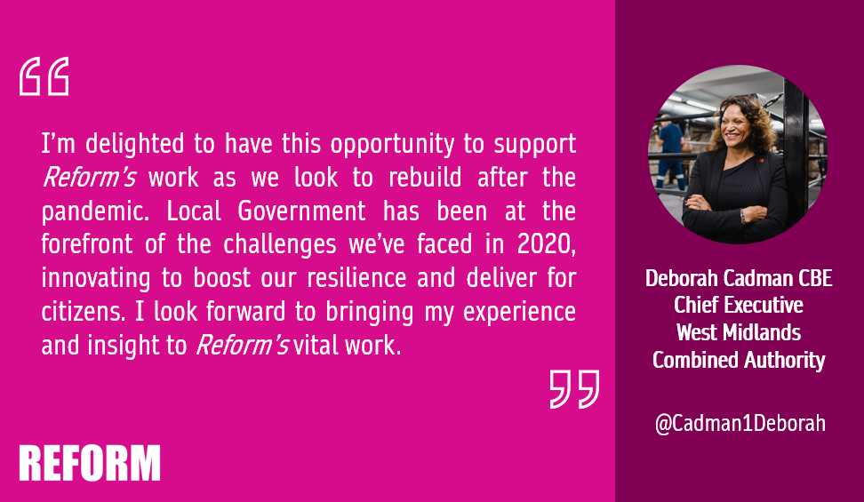Deborah Cadman OBE, Chief Executive,​ West Midlands Combined Authority